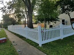 vinyl picket fence front yard. Residential Fencing - Vinyl Picket Fence Installation In Mclean, VA Front Yard