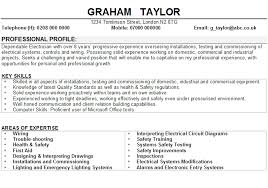 Sample Of Electrician Resumes Electrician Cv Sample