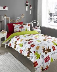 reindeer rudolf single duvet cover p case bedding bed set xmas by homespace direct co uk kitchen home