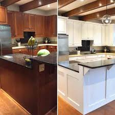 painted white kitchen cabinets before and after. How To Paint Oak Cabinets White Painted White Kitchen Cabinets Before And After