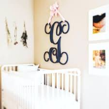 monogram letters for wall michaels painted wooden hanging home decor large monogram letters