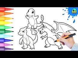 Small Picture Pokemon Coloring Pages Charmander Evolution I Fun Coloring Videos