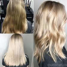 Platinum Blonde Hair Balayage Blonde Lob