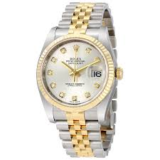 rolex datejust watches jomashop rolex datejust silver diamond dial jubilee bracelet fluted bezel two tone men s watch