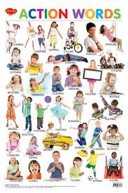 Action Words Chart With Pictures Action Words Chart
