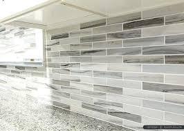 gray and white backsplash gray white some brown tones modern subway kitchen tile from com white