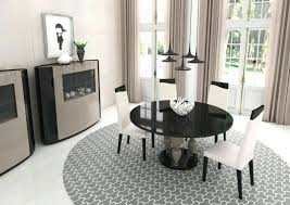 Round Contemporary Dining Tables Modern Round Glass Dining Table