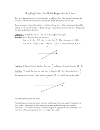 solving equations involving parallel and perpendicular lines worksheet