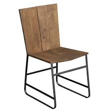 sequoia wood iron dining chair in light brown