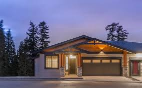 garage doors landscape design is easy maintenance with focus on surrounding natural setting
