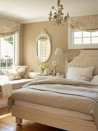 Beige and burgundy bedroom