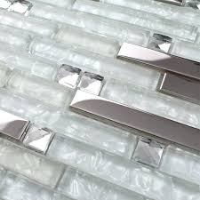 clear glass tile backsplash pictures strip silver stainless steel mixed clear glass mosaic tiles for kitchen clear glass tile