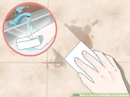 how to remove yellow stains from linoleum image titled get hair dye stain out of linoleum how to remove yellow stains