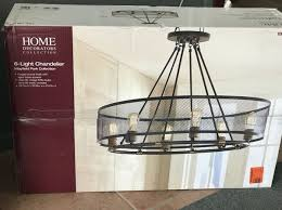 home decorators collection mayfield park collection 6 light forged bronze oval chandelier with mesh shade new for in plantation fl offerup