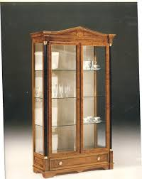 2480 showcase wooden display cabinet with 2 glass doors classic style