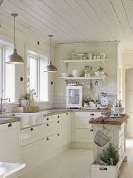 country style kitchen furniture. White Farmhouse Kitchen With Planked Ceiling And Sink. Country Style Furniture