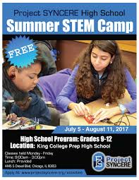 project syncere home 2017 high school summer stem camp