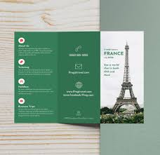 Business Tri Foldhure Layout Design Vector Template Three Google