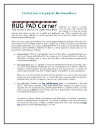 best rug pad the kind of for hardwood floors corner ultra premium