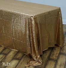 gold sequin tablecloth rose wedding 120 inch round 108