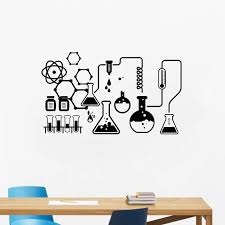 science chemical lab vinyl wall
