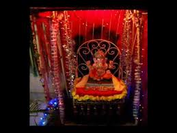 Small Picture My home Ganpati decoration water curtain YouTube