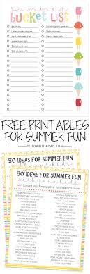Bucket List Printable Template Free Printable Summer Bucket List Yellowblissroad Com