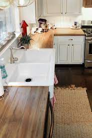 Remodelaholic How To Create Faux Reclaimed Wood Countertops Reclaimed Wood Kitchen Wood Kitchen Counters Diy Wood Counters