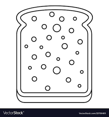 slice of bread outline. Contemporary Slice Slice Of White Bread Icon Outline Vector Image Intended Of Bread Outline