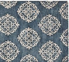 pottery barn bird medallion rug blue designs