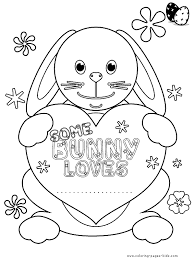Easter Color Picture Coloring Pages For Kids Holiday Seasonal