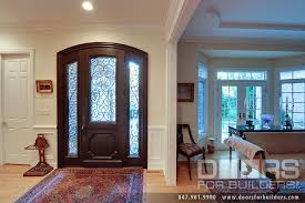 wrought iron front doorsCustom Solid Mahogany Wood Door with Two Sidelites and Wrought