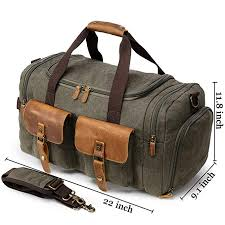 canvas duffle bag overnight bags for men weekend travel duffel weekender bags for women canvas leather