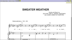 sweater weather piano sheet music