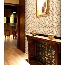 brown glass tile backsplash ideas for kitchen walls yellow resin s with conch mosaic designs bathroom