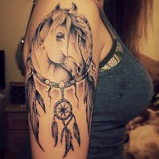 In Love With This Horse Dream Catcher Tattoo Horse Dreamcatcher