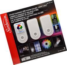 Sunbeam Night Light Power Failure Sunbeam Color Changing Led Power Failure Night Light 3 Pack