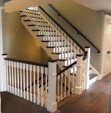 Painted Wood Stairs Wood Stairs Thearmchairs Com Staircase Idolza