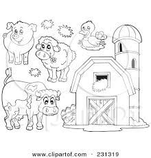 Small Picture Best Photos of Farm Animal Coloring Pages Template Farm Animal