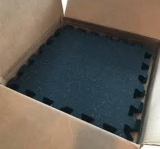 iron lock rubber garage gym flooring kit