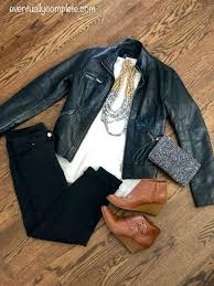outfit flatlay date night out on the town black skinnies white