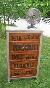 industrial dresser redo wth diy pulls and letter transfer tutorial west furniture revival astonishing pinterest refurbished furniture photo