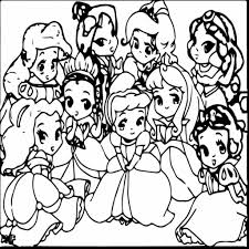 Free coloring pictures disney princesses. Coloring Pages For Kids Chibi Cute Disney Princess Coloring Pages