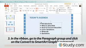 Ppt Smart Art How To Convert Text To Smartart In Powerpoint