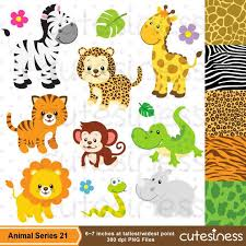 zoo animal clipart cute. Plain Zoo Safari Clipart  Baby Animals Clipart Zoo Cute By  Cutesiness On Etsy And Animal A