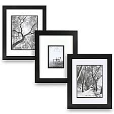 black picture frames. Image Of Real Simple® Black Wood Wall Frame With White Over Mat Picture Frames K