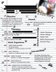 Bad Resume Awesome 4922 Dissecting The Good And Bad Resume In A Creative Field Emily