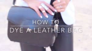 how to dye a leather