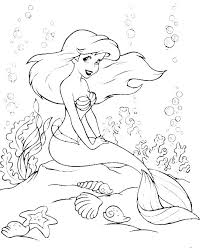 Printable Little Mermaid Coloring Pages Dr Schulz