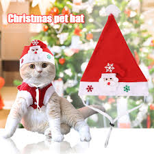 Adorable Cute Cats <b>Dog Christmas Santa Hat</b> for Cats Kitten Puppy ...